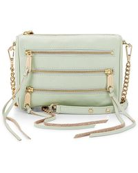 Rebecca Minkoff Mini 5-Zip Crossbody green - Lyst