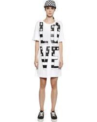 Love Moschino Love Printed Cotton T-Shirt Dress - Lyst