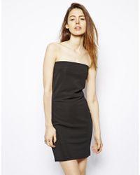 Cheap Monday Strapless Dress - Lyst