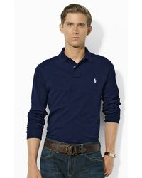 Polo Ralph Lauren Custom-fit Stretch-mesh Polo - Lyst