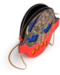 Stella McCartney 'Superstellaheroes' Mask Crossbody Clutch - Lyst
