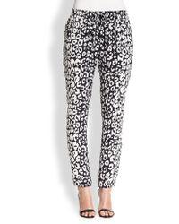 A.L.C. Thompson Leopard-print Silk Track Pants - Lyst