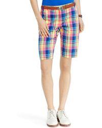 Ralph Lauren Golf Madras Short - Lyst