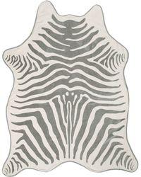 Maslin & Co. Grey Zebra Beach Towel - Lyst