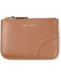 Comme Des Garçons Zipped Textured Coin Wallet - Lyst