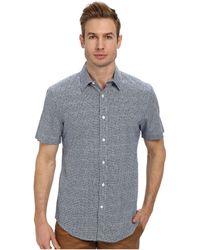 Perry Ellis Short Sleeve Printed Dot Shirt - Lyst