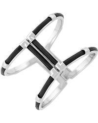Cole Haan - Leather T-bar Cuff Bracelet - Lyst