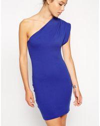 American Apparel Interlock Asymmetrical Dress - Lyst