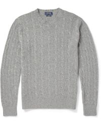 Polo Ralph Lauren Cashmere Cable-Knit Sweater - Lyst