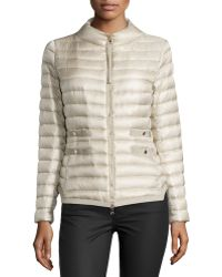 Moncler Lochet Fitted Puffer Jacket - Lyst