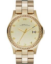 Marc By Marc Jacobs Women'S Henry Gold-Tone Stainless Steel Bracelet Watch 40Mm Mbm3361 - Lyst