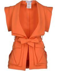Versace Blazer orange - Lyst