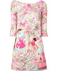 Blumarine Printed Fitted Dress - Lyst