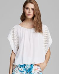Catherine Malandrino Top Fallon Short Sleeve Oversized - Lyst