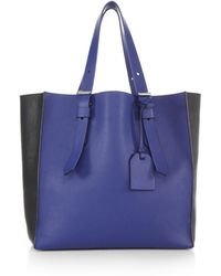 Reed Krakoff Krush Two-Tone Milled-Leather Tote - Lyst