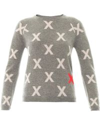 Chinti And Parker Crosses Cashmere Sweater - Lyst
