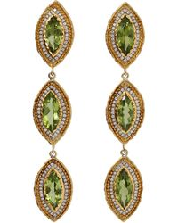 Victor Velyan - Peridot Marquis Earrings - Lyst