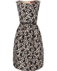 Max Mara Blocco Printed A Line Dress with Belt - Lyst