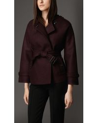Burberry Boiled Wool Kimono Coat - Lyst