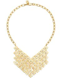 Tory Burch Babylon Bib Necklace - Lyst