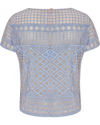 Temperley London Marine Embroidered Top blue - Lyst
