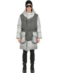 Griffin - Nylon & Wool Flannel Down Jacket - Lyst