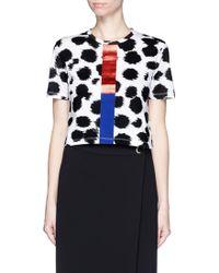Être Cécile | Cheetah Print Foil Stripe Cropped T-shirt | Lyst