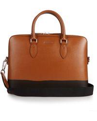 Burberry Prorsum - Burrow Crosshatch-leather Briefcase - Lyst f52e7ea8a4e23