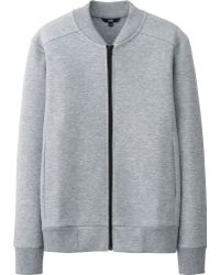 Uniqlo Men Dry Stretch Sweat Full-Zip Jacket - Lyst