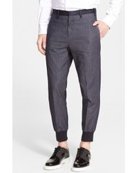 Neil Barrett Colorblock Pants blue - Lyst