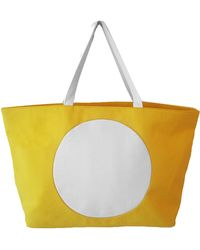 Lisa Perry Canvas Circle Square Tote - Lyst