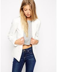 Asos Blazer In Crepe With Lapel Detail - Lyst