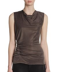 Halston Heritage Sleeveless Draped Top - Lyst