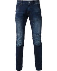 G-star Raw Faded Effect Skinny Jeans - Lyst