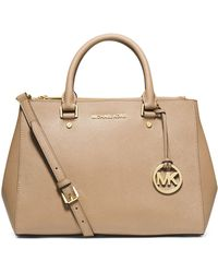 Michael by Michael Kors Jet Set Travel Dressy Leather Tote - Lyst