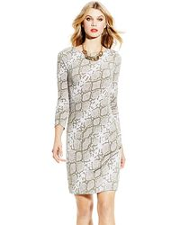 Vince Camuto Jersey Printed Shirt Dress - Lyst