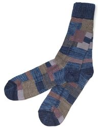 Anonymous Ism Indigo Patchwork Crew Socks multicolor - Lyst