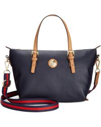 Tommy Hilfiger Th Shopper Pebble Small Convertible Tote - Lyst