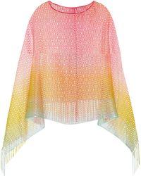 Missoni Crochet-knit Poncho - Lyst