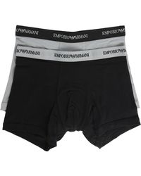 Emporio Armani 2-Pack Black And Grey Boxer Shorts - Lyst