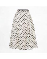 Erdem Imari Skirt Flocked Dot black - Lyst