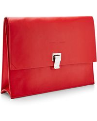 Proenza Schouler Large Leather Lunch Bag - Lyst