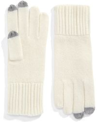 Lord & Taylor - Ribbed Cashmere Texting Gloves - Lyst