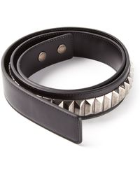 Saint Laurent Studded Belt - Lyst