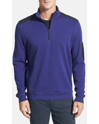 Bugatchi Half Zip Shoulder Patch Classic Fit Sweater - Lyst