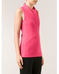Narciso Rodriguez Stretch Darted Top - Lyst