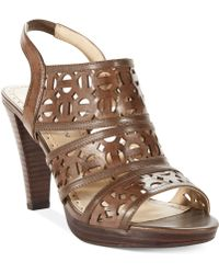 Adrienne Vittadini Brown Primber Sandals - Lyst