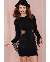 Nasty Gal Dress The Population West Sider Dress black - Lyst