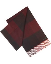 Ted Baker Red Check Scarf - Lyst