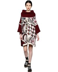 Antonio Marras Oversized Embroidered Wool Sweater - Lyst